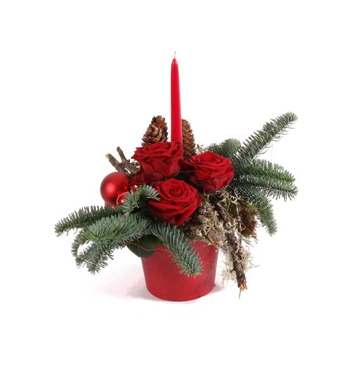 M s de 1000 ideas sobre centros de mesa de rosas rojas en - Centros de mesa navidenos faciles ...