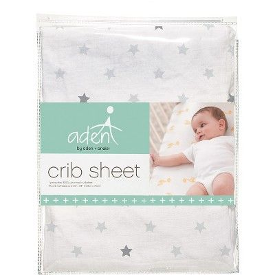 Aden by Aden + Anais Fitted Crib Sheet - Dove Gray, Lt Grey