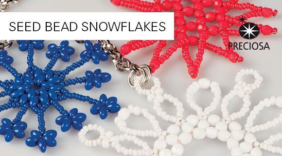 Snowflakes - free PDF ~ Seed Bead Tutorials