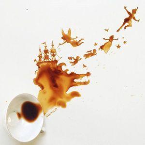 これは拭き取りたくない!こぼしたコーヒーから作ったアートが美しい - NAVER まとめ