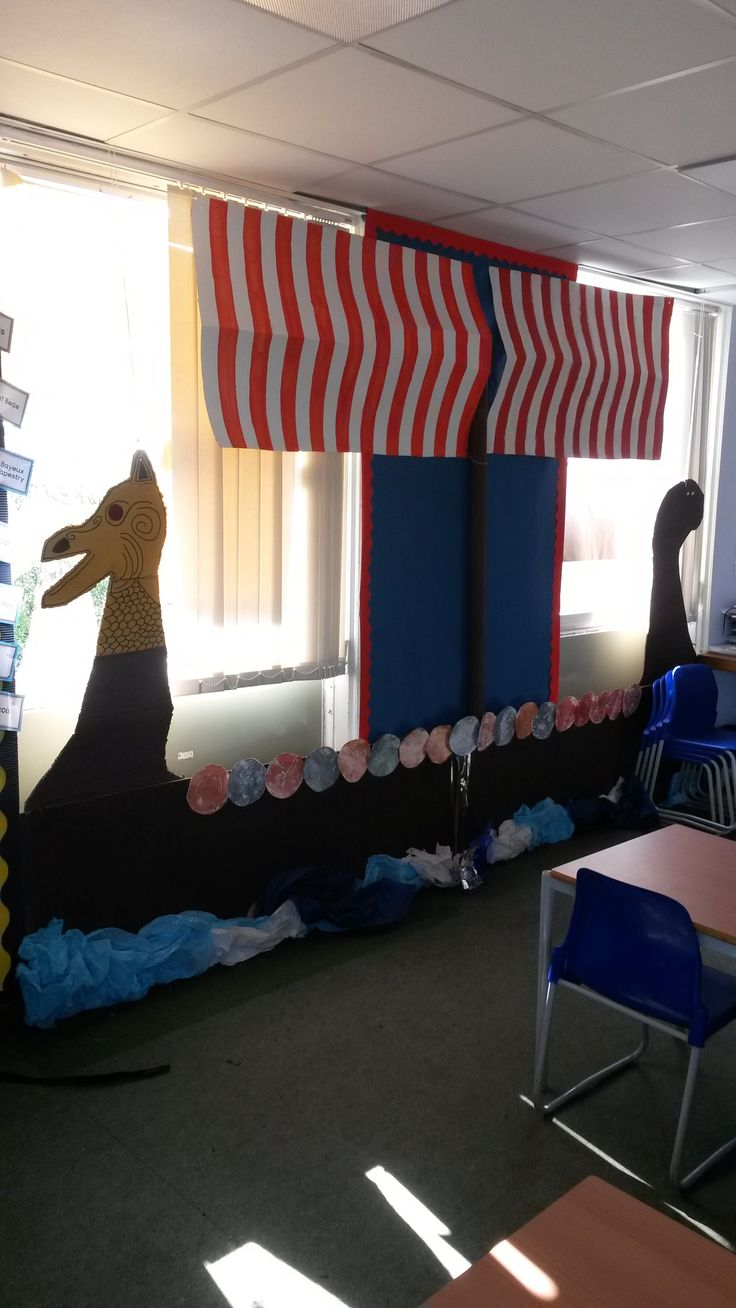 Viking ship my colleague and I created for a year 4 classroom display.