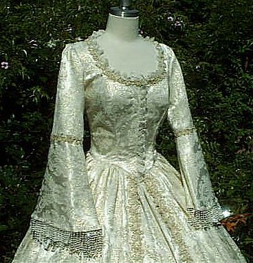 Brocade Sparkle Marie Antoinette Style Gown