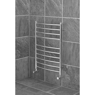 Reina Curved Ladder Towel Radiator 720 x 600mm Stainless ...