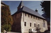 Cluses. Eglise Saint-Nicolas, ancienne chapelle des Cordeliers @GuidesGPPS http://www.gpps.fr/Guides-du-Patrimoine-des-Pays-de-Savoie/Pages/Site/Visites-en-Savoie-Mont-Blanc/Faucigny/Basse-vallee-de-l-Arve/Cluses