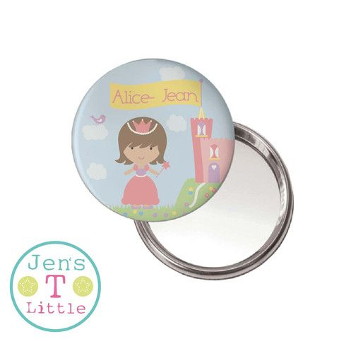 Princess & Castle Compact Mirror - Personalised – JensLittleT
