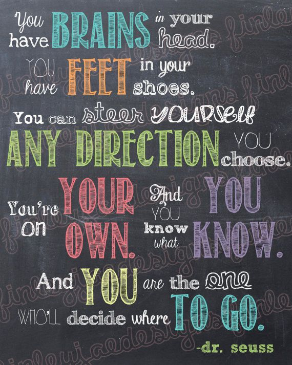 Dr. Seuss Chalkboard Printable: You Have Brains in Your ...