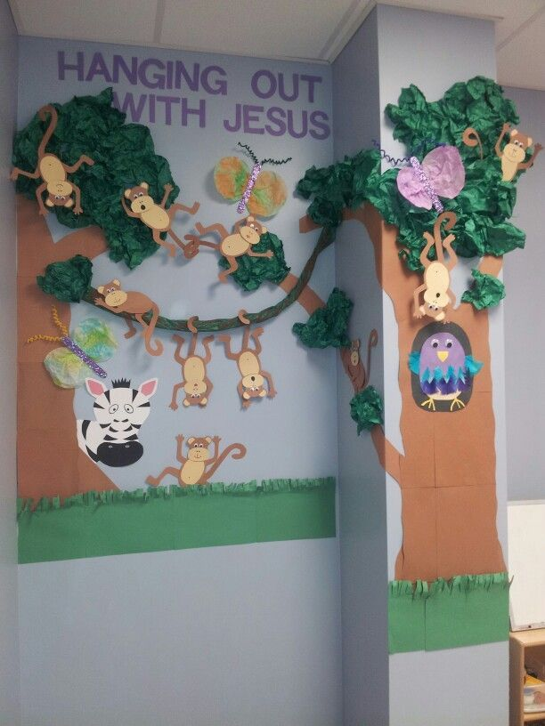 Sunday school bulletin board.