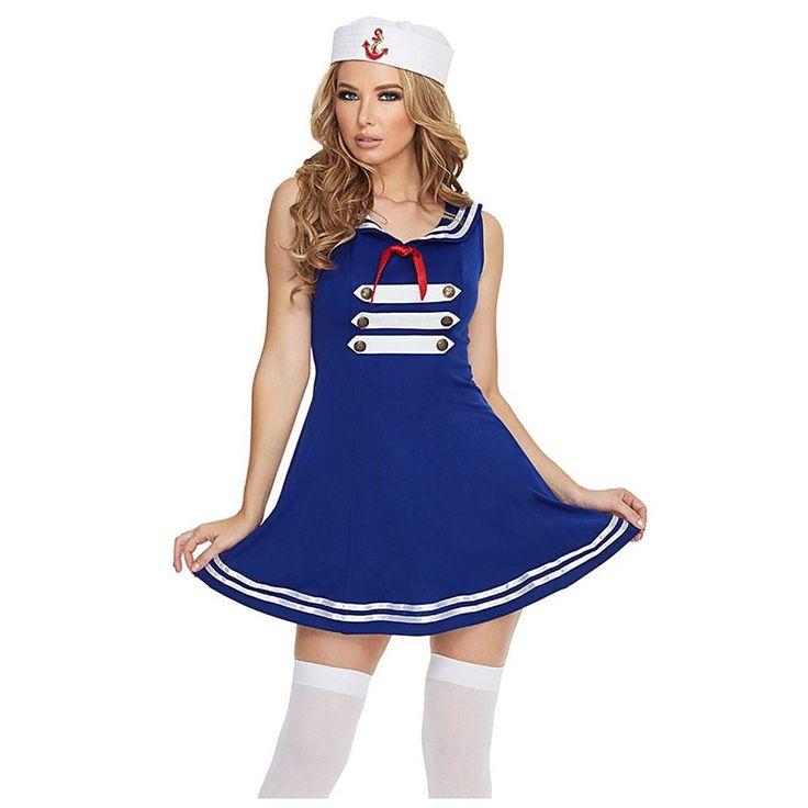 Sexy Pin Up Sailor Halloween Costume LAVELIQ