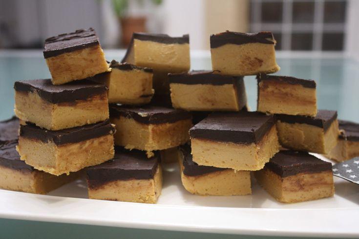 Quadrotti burro di arachidi e zucca - peanut butter and pumpkin squares