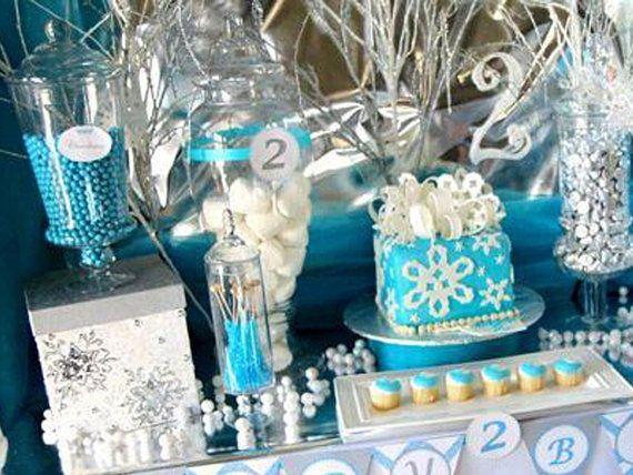 Winter Wonderland Party  Snowflake Birthday by LillianHopeDesigns, $35.00