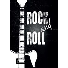 "Juliste ""Rock and Roll"" - A4, A3, 50x70cm"