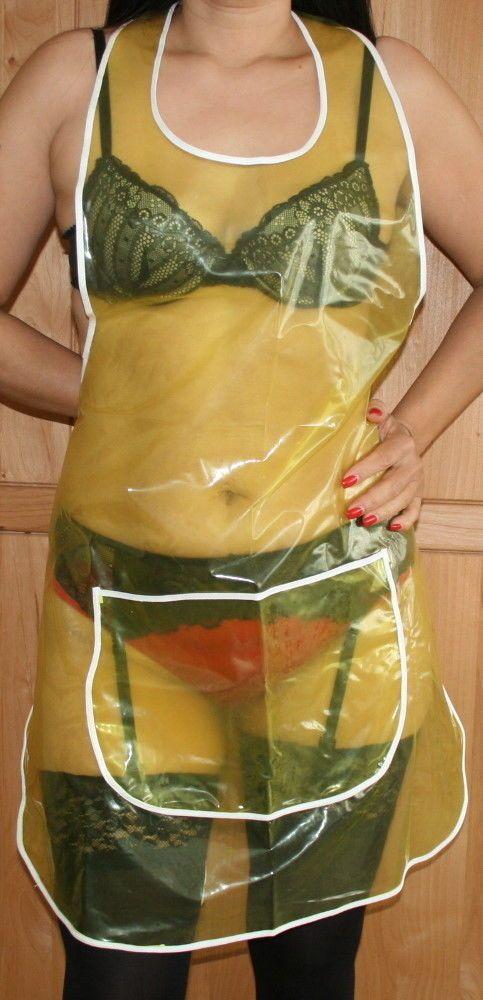 PVC Schürze gelb glasklar transparent | eBay