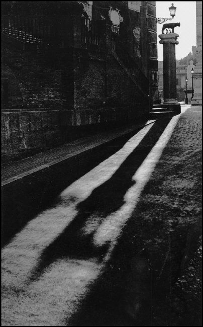 In the Shadow of Romulus and Remus, Rome, Italy, 1949. Photo by Herbert List