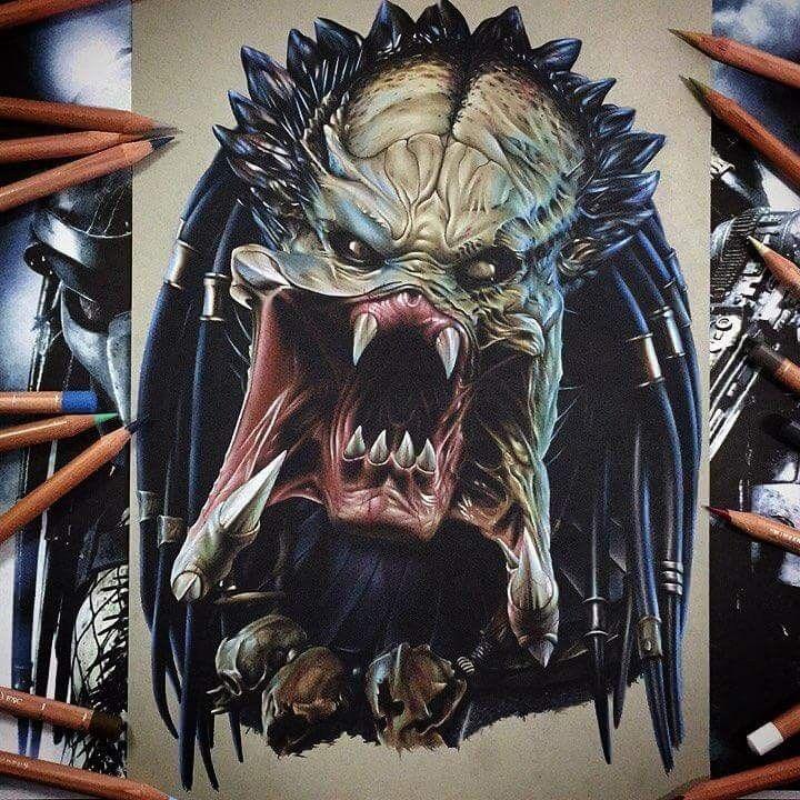 51 Deadliest Predator Tattoo Designs Ideas For Men: Predator Art, Predator Tattoo, Predator