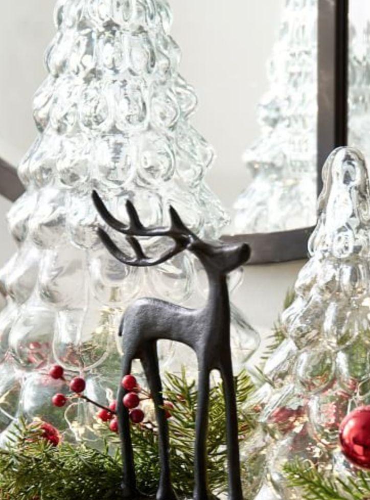 Glass Trees Christmas Decor Ideas Pinterest