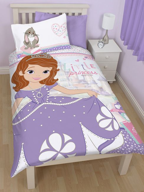 Disney Sofia The First Academy Single Reversible Duvet Cover - Bedding Set. Perfect addition to your Themed Bedroom