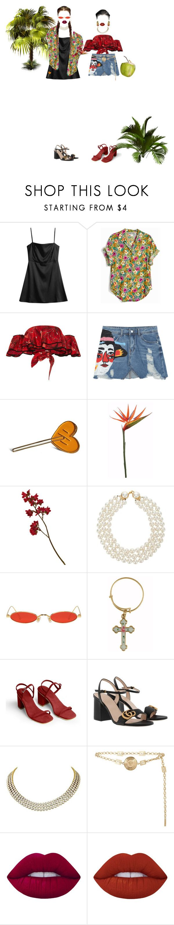 """""""-never gonna be alone"""" by salt-sugar ❤ liked on Polyvore featuring Johanna Ortiz, Chanel, Gentle Monster, Alex and Ani, Gucci, Harry Winston, Versace, Lime Crime and Dolce&Gabbana"""