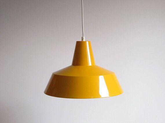 Via Eclectivist on Etsy | Louis Poulsen 'Arbejdspendel' style Industrial Enamel Pendant Lamp