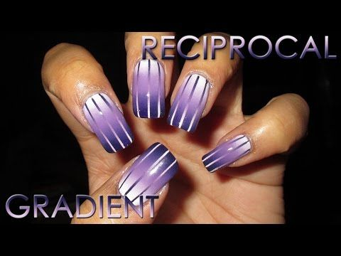 Reciprocal Gradient | DIY Nail Art Tutorial - YouTube