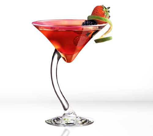 """Creative martini (or in my case """"mocktini"""" ;) ) glass for fancy occasions"""