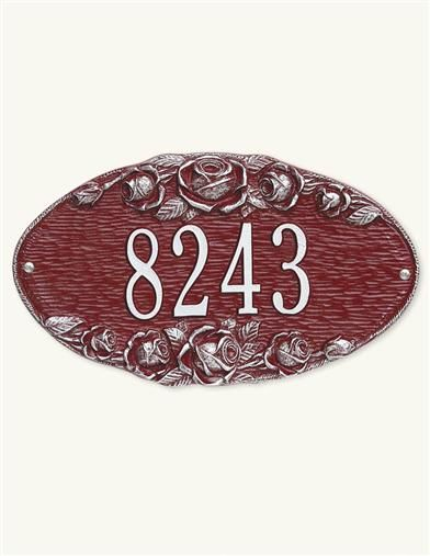 Rose Custom Address Plaque from Victorian Trading Co.