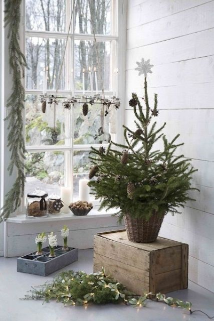 76 Inspiring Scandinavian Christmas Decorating Ideas: great natural christmas decor