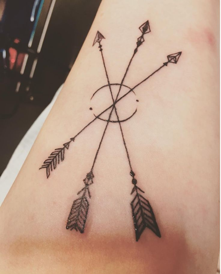 Three Crossed Arrows Tattoo