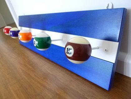 Poolball Coat Rack - blue