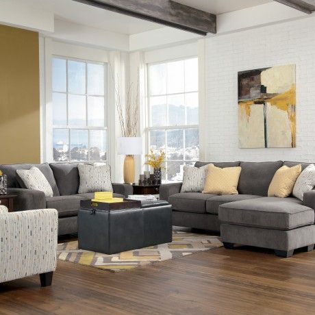 Beautiful L Shaped Sofa Design Feature Grey Comfy Fabric Sofa With White  Stripe Cushion And Beige Part 62