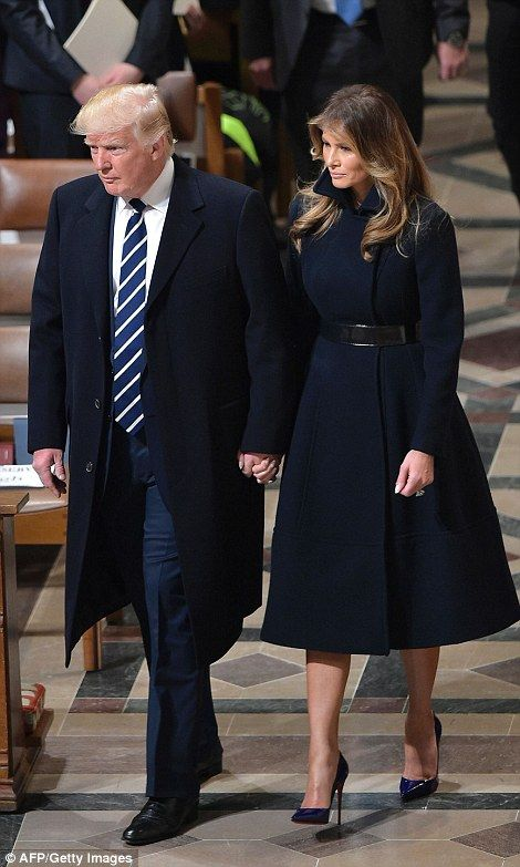 First Lady Melania Trump and Ivanka Trump attended the national prayer service with the new president as part of an inauguration tradition. The two women were dressed to the nines.