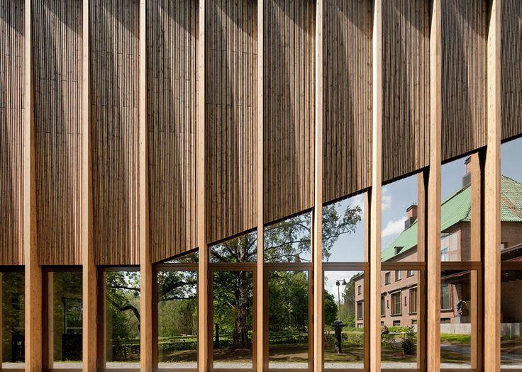 """MX_SI's Serlachius Museum Gösta extension has """"abstract forest"""" facade"""