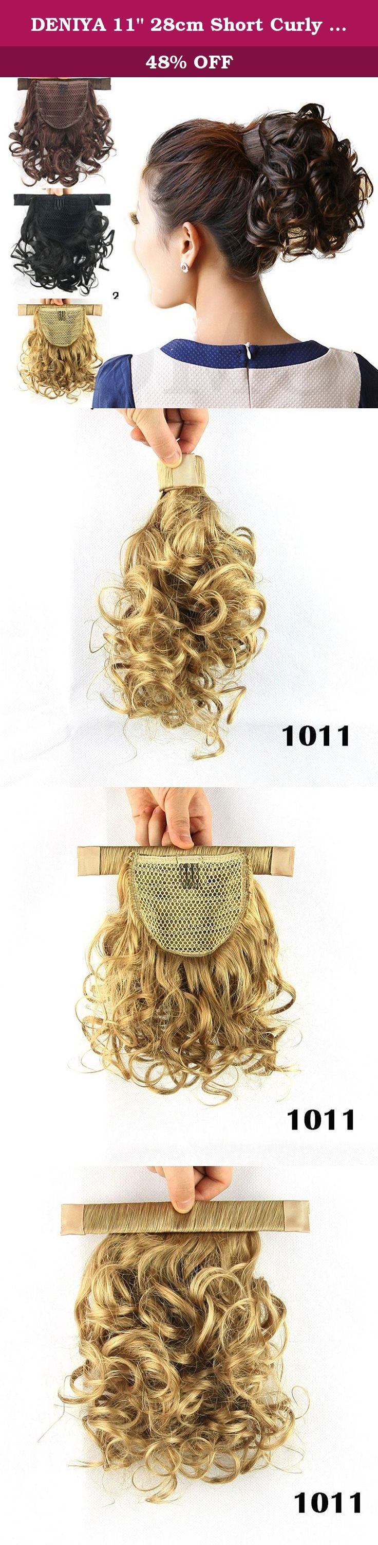 """DENIYA 11"""" 28cm Short Curly Wrap Around Ponytail Hair Extension Wedding Hair Pieces for Women. Due to the light effect and different monitor settings, the color of the item you receive may have slight difference with the photos. Notice: The wig may become a little messy because of long delivery,Please do not worry, you can use some Hair Softener to make it beautiful. Color may vary slightly due to the different color calibration of each individual monitor. If you have any question before…"""