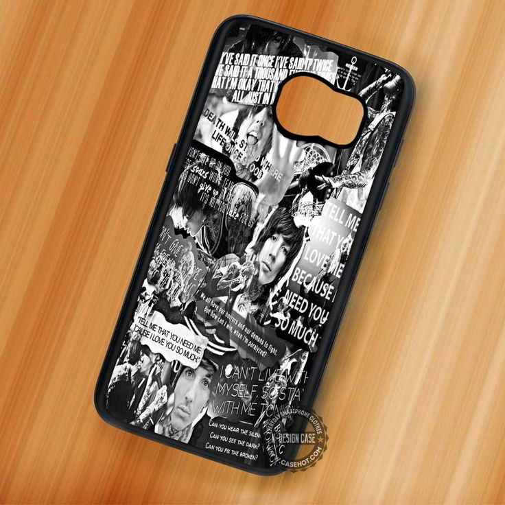 Bring Me The Horizon Collage Black and White - Samsung Galaxy S7 S6 S5 Note 7 Cases & Covers