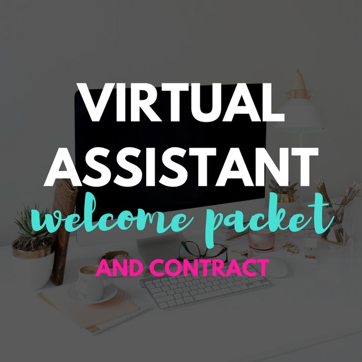 The virtual assistant welcome packet and contract is a 7 page, fully customizeable Word document. In your instant download you will receive: Welcome Letter List of Virtual Assistant Services Policies Manual Sample Rates & Packages Template New Client Questionnaire / Intake Form Extensive Virtual Assistant Contract    NOTE:  Contract and questionnaire not pictured.  The welcome packet pictured has been customized to fit my brand with my fonts, brand colors and signature. I encourage y...