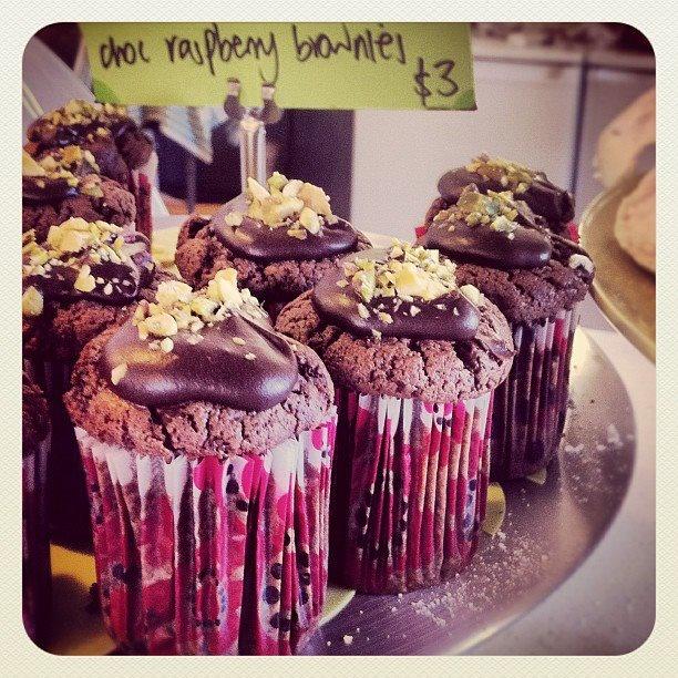 Chocolate raspberry brownies @ The Choco Spot, Perth, Australia...