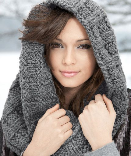 Knitting A Scarf With Circular Needles : Knitted hooded scarf pattern all the best ideas knitting