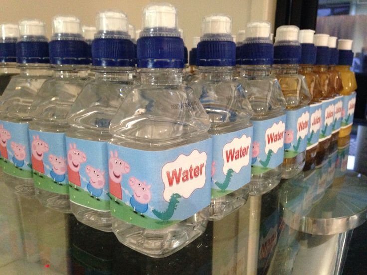 Peppa water and juice