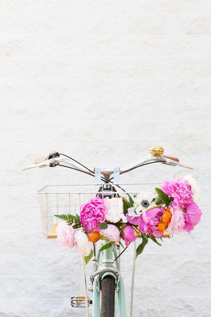 DIY Floral Bike Basket