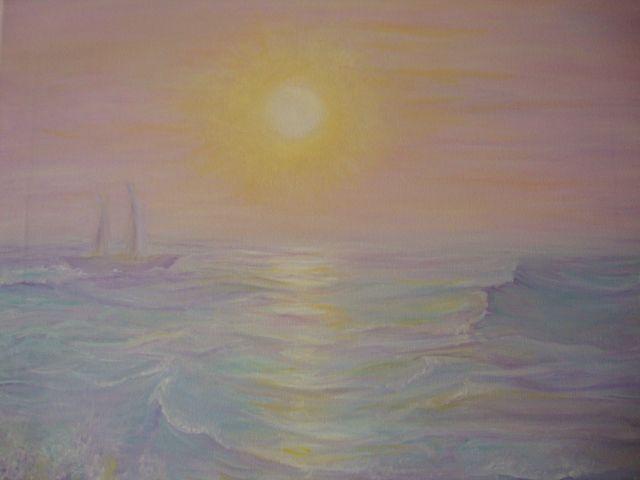 """""""ALBA""""  Un mattino di quiete,l'orizzonte dinnanzi. Piccole e grandi emozioni che risvegliano dal tepore del sonno,in un fantastico gioco di emozioni inspiegabili e furtive. La brezza, il mare…il sole…  TECNICA acrilico su tela DIMENSIONI 40x30 PREZZO €2,200"""