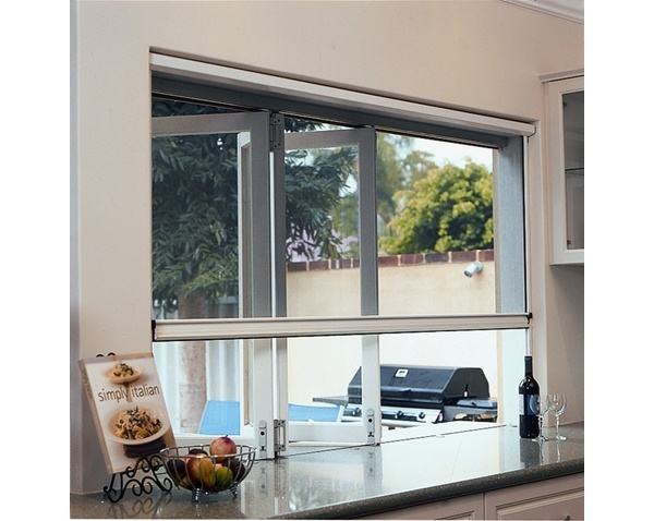 Pull down retractable screens for windows available from Freedom Pull Down Flyscreen