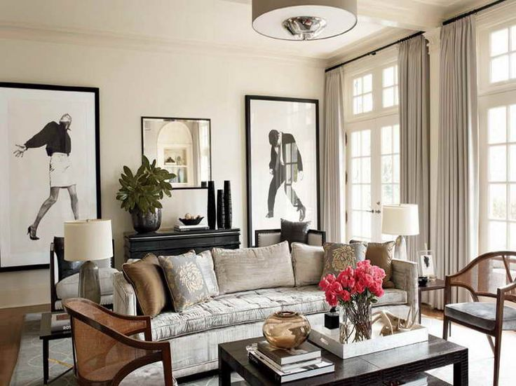 Nate Berkus Living Rooms Decorating Ideas With Grey Curtains Interior Design - GiesenDesign
