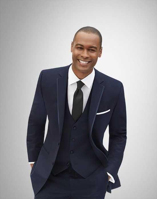 Men's Wearhouse Joseph Abboud® Navy Tuxedo Wedding Tuxedos + Suit photo