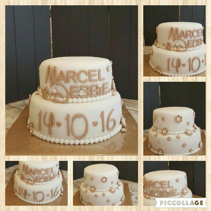 wedding cake/ bruidstaart simpel