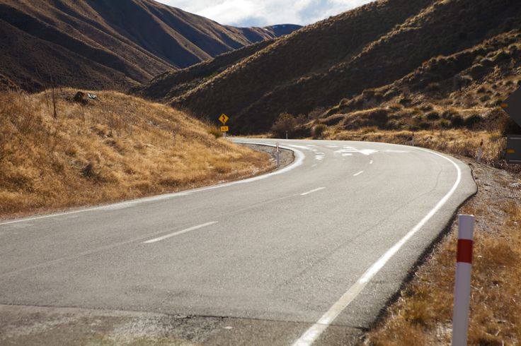 Mountain Road - Crown Range, Wanaka Side - Fast Long Turns - Road Surface Detail