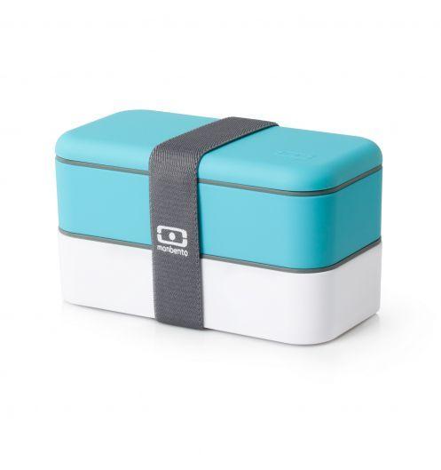 Une boite à bento couleur azur: pratique pour manger sur la plage votre repas maison: http://www.deco-et-saveurs.com/bento-lunch-box/2808-boite-bento-monbento-bleu-ciel-mb-3760192681780.html