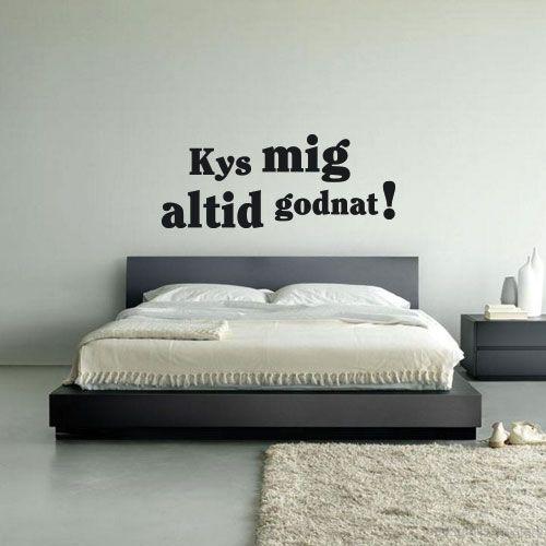 Wallsticker til soveværelset: kys mig altid godnat!