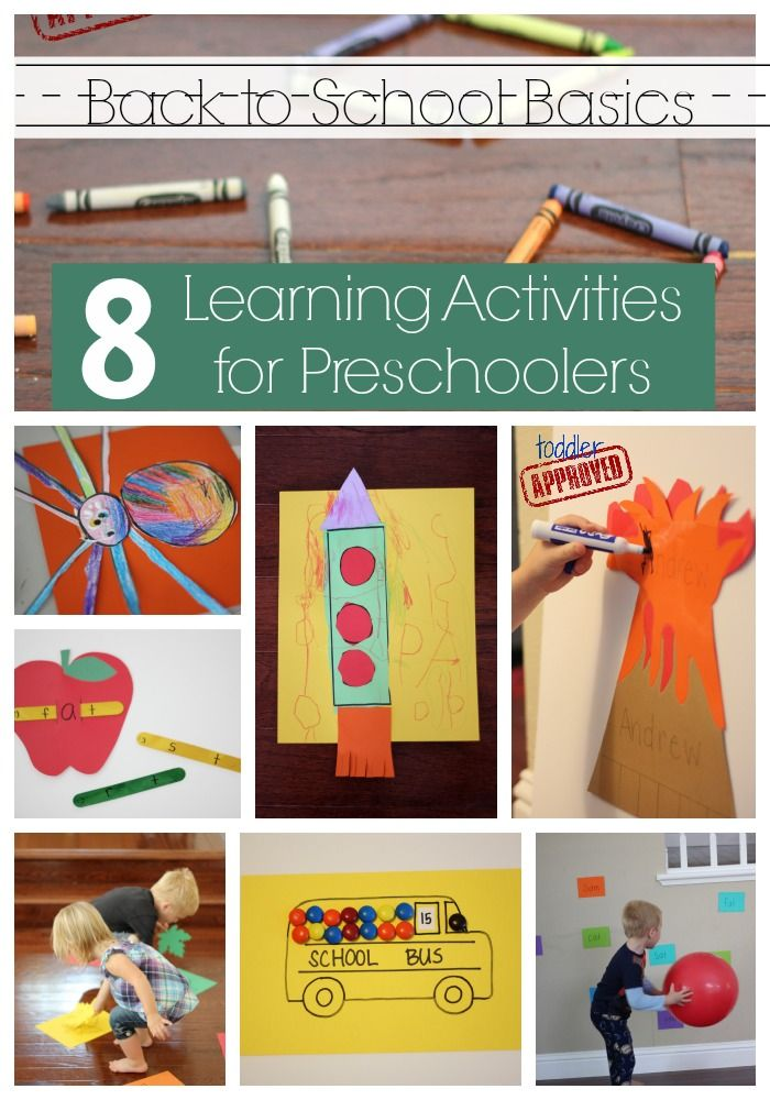 Back To School Basics 8 Learning Activities For