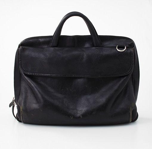 黒い革のブリーフケース | Found MUJI FLEA | 無印良品