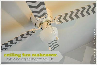 Taste{Full}: Cheap & Easy Ceiling Fan Makeover {a Tutorial}.