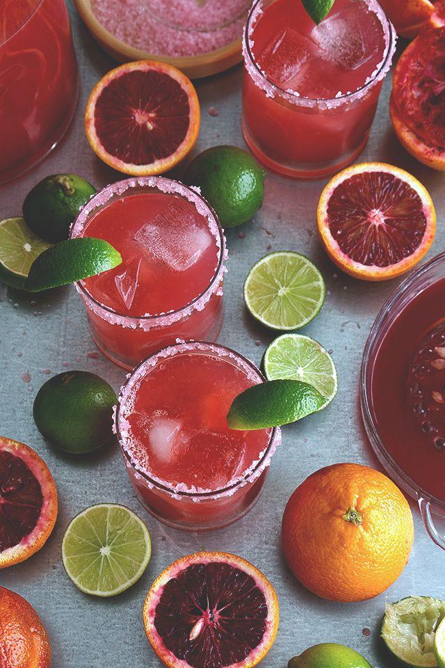 Blood Orange Margarita . . . Pitchers! // HonestlyYUM